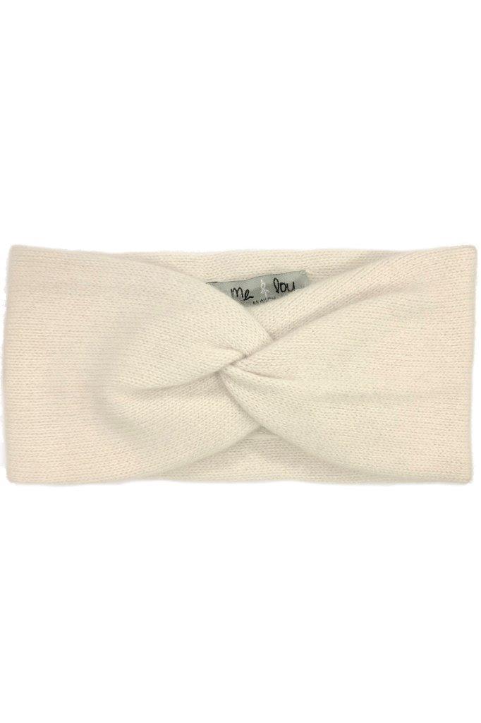Cashmere-Stirnband gekreuzt 100% Cashmere