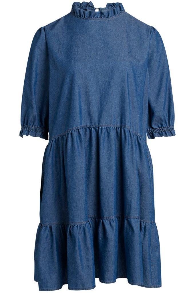 Jeanskleid mit eingelassenen Taschen