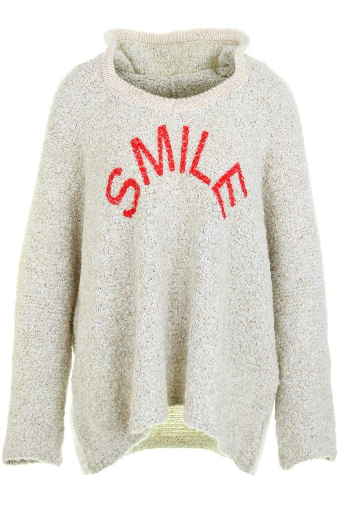 Pullover Boucle SMILE mit Kapuze