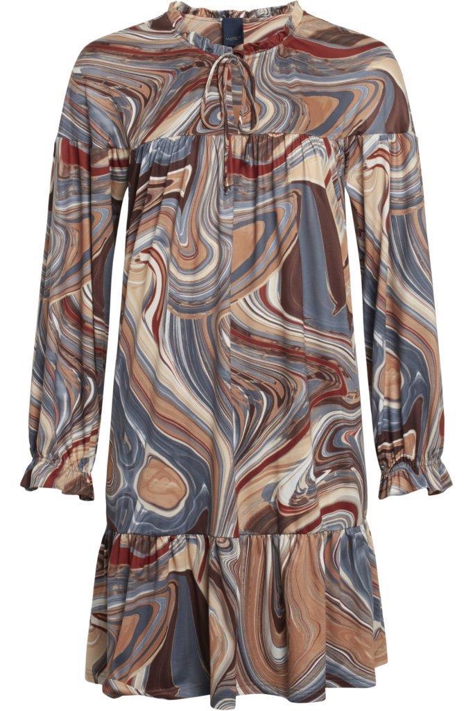 Jerseykleid aus atmungsaktiver knitterarmer Mikrofaser (Kofferware)