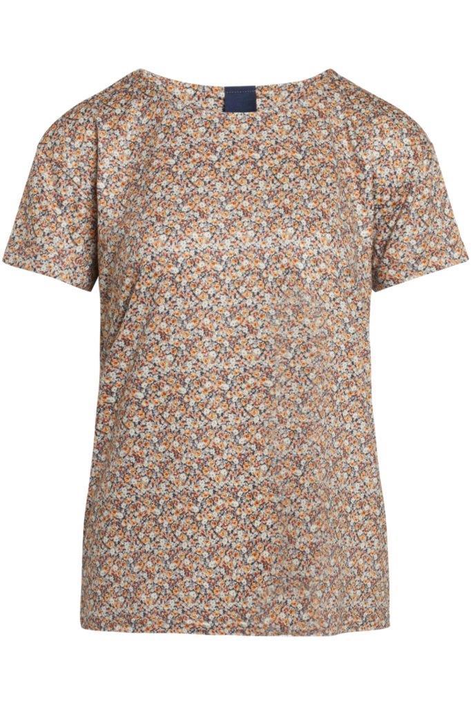 Jerseyshirt Rosendruck aus atmungsaktiver knitterarmer Mikrofaser Kofferware