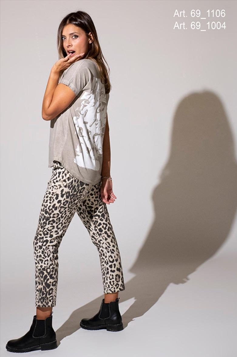 SNAKE MILANO T-Shirt mit Rückenprint ABC