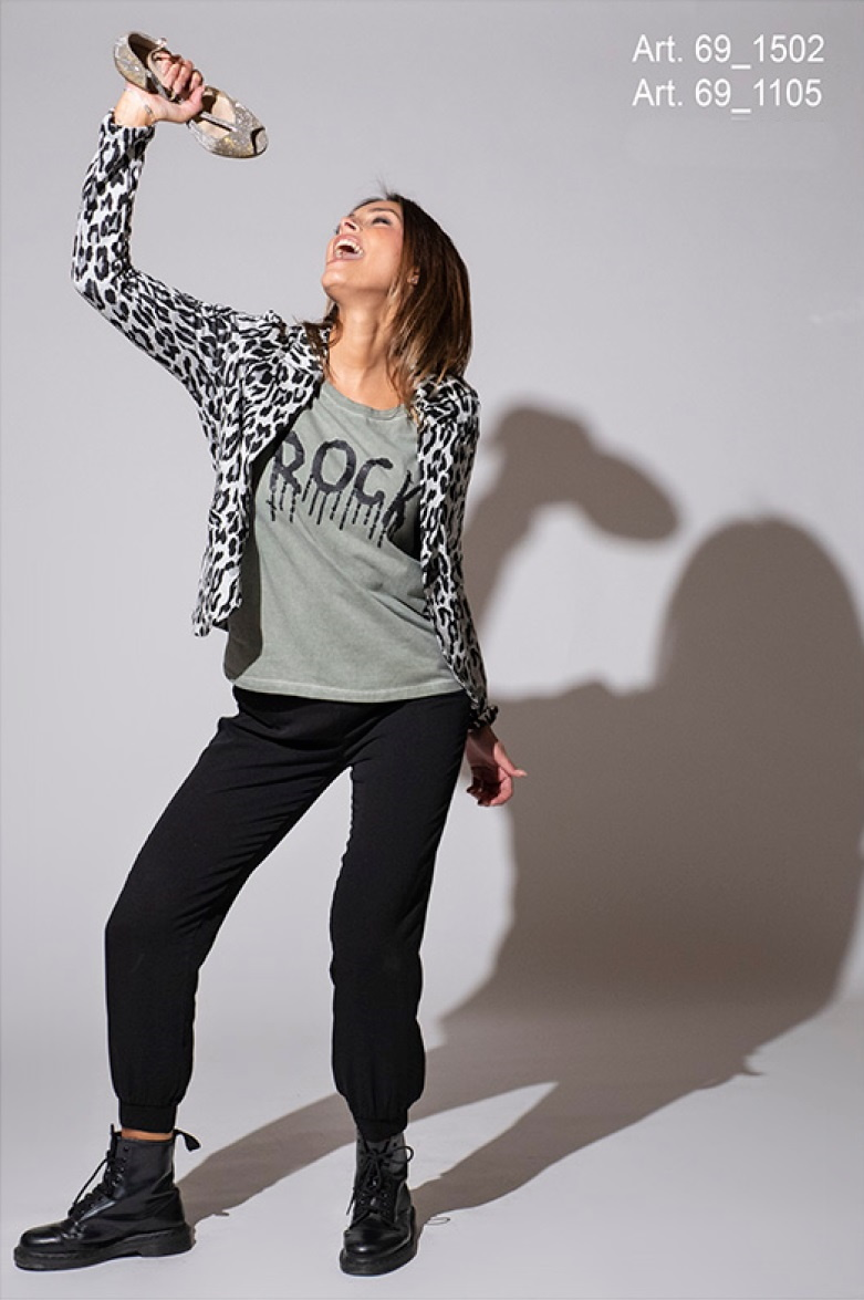 SNAKE MILANO Shirt mit Pailletten ROCK