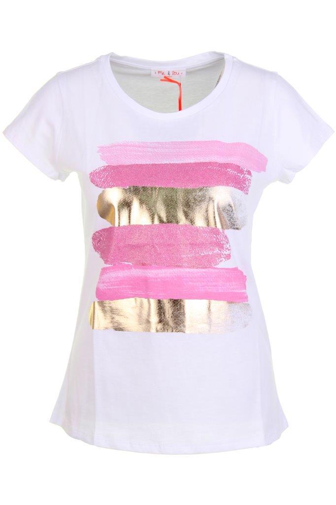 T-Shirt laminierte Streifen