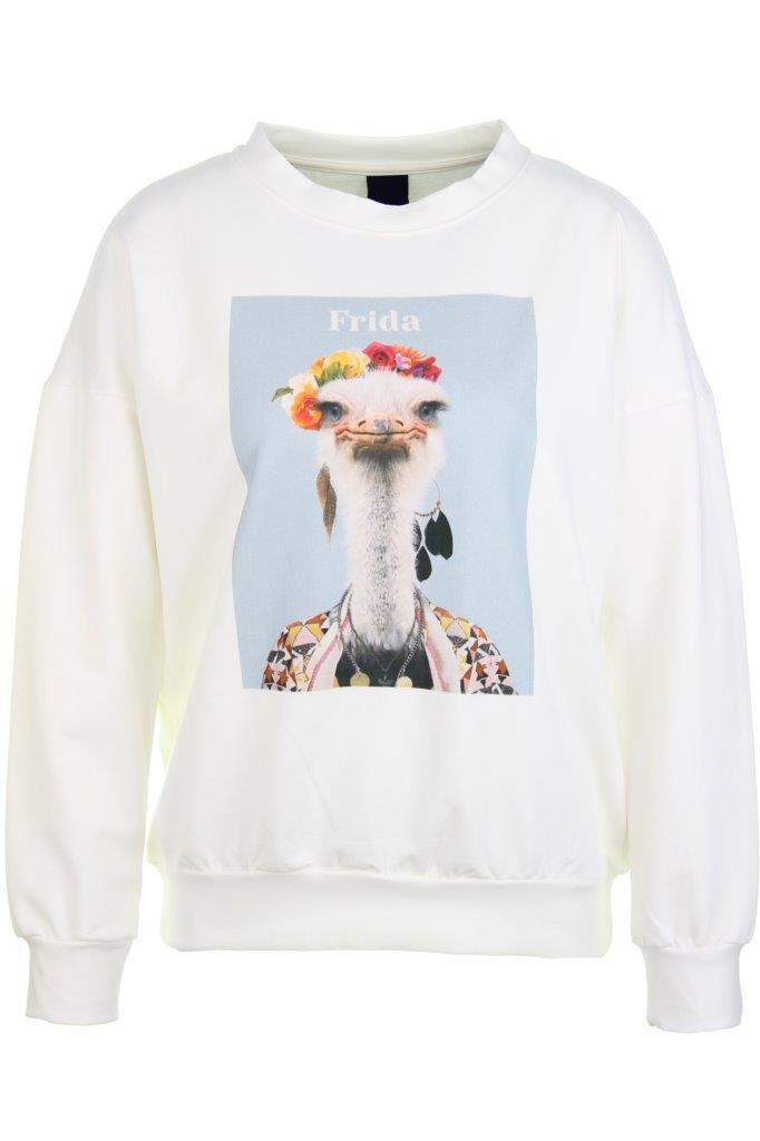 Baumwoll-Sweatshirt 'frida' mit Elasthan