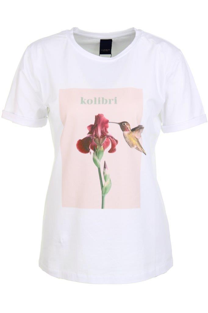 Baumwoll-T-Shirt 'kolibri' mit Elasthan