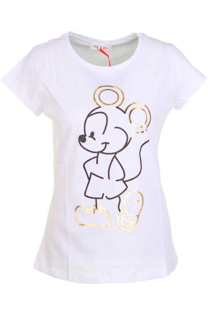 T-Shirt Mouse-Glitzer-Print