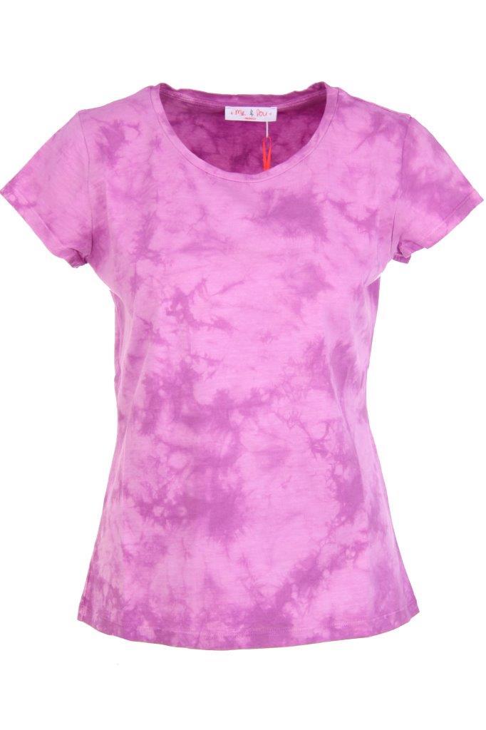 T-Shirt in hochwertiger Marmor-Färbung