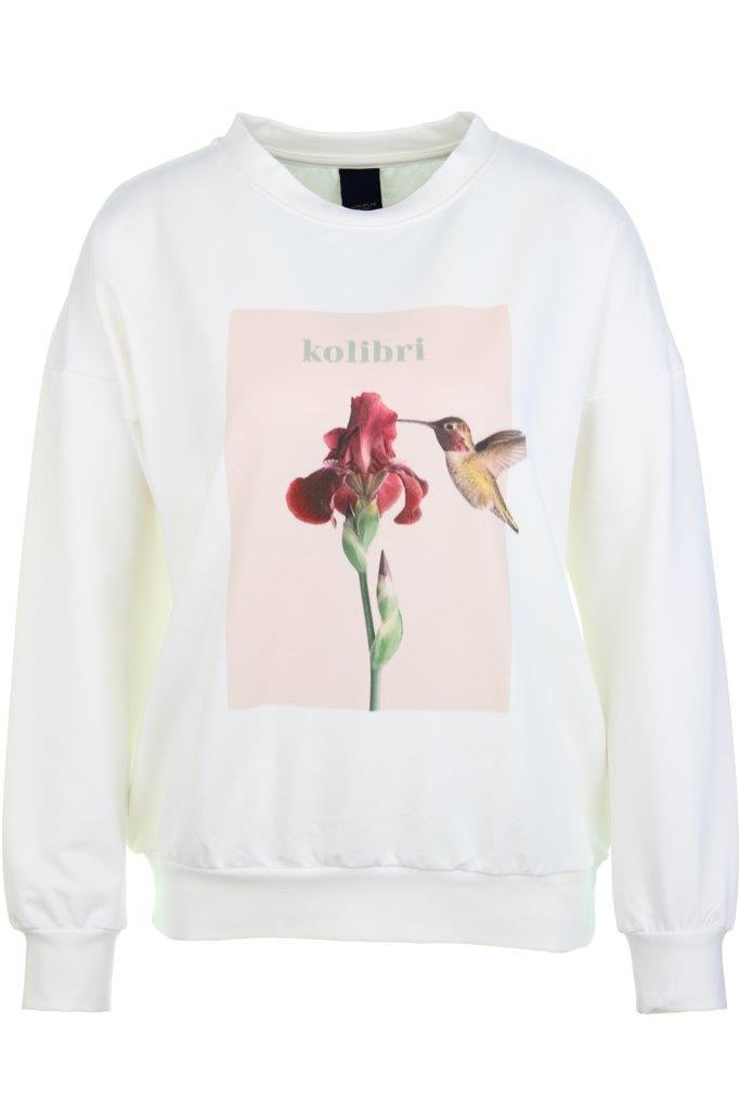 Baumwoll-Sweatshirt 'kolibri' mit Elasthan