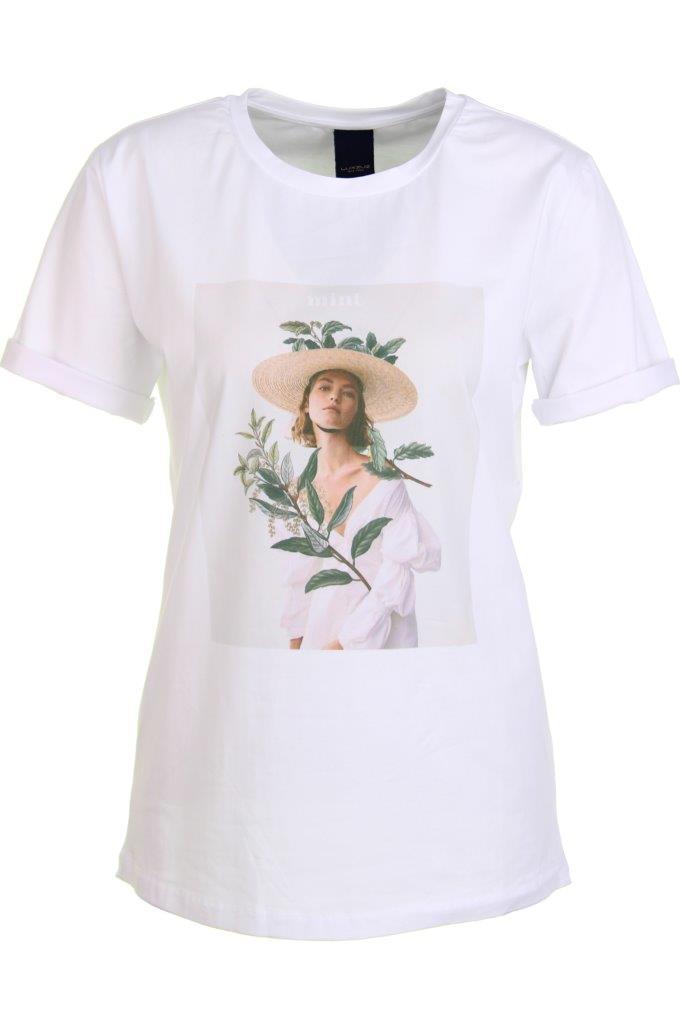 Baumwoll-T-Shirt 'mint' mit Elathan