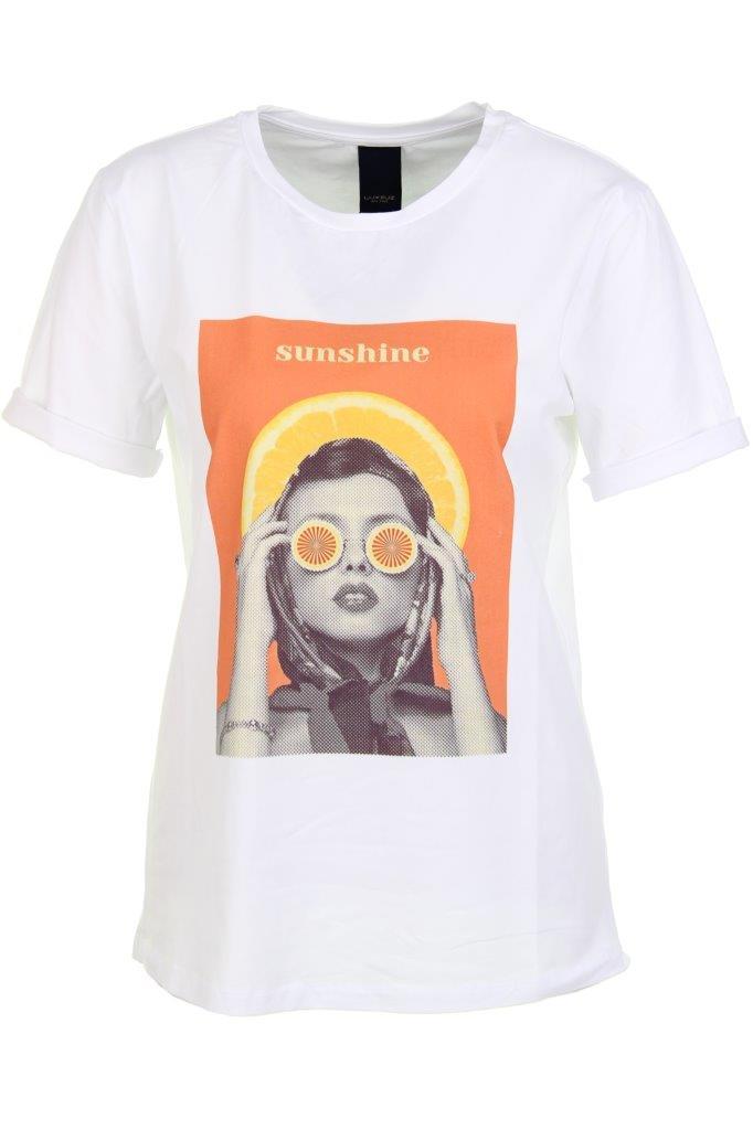 Baumwoll-T-Shirt 'sunshine' mit Elasthan
