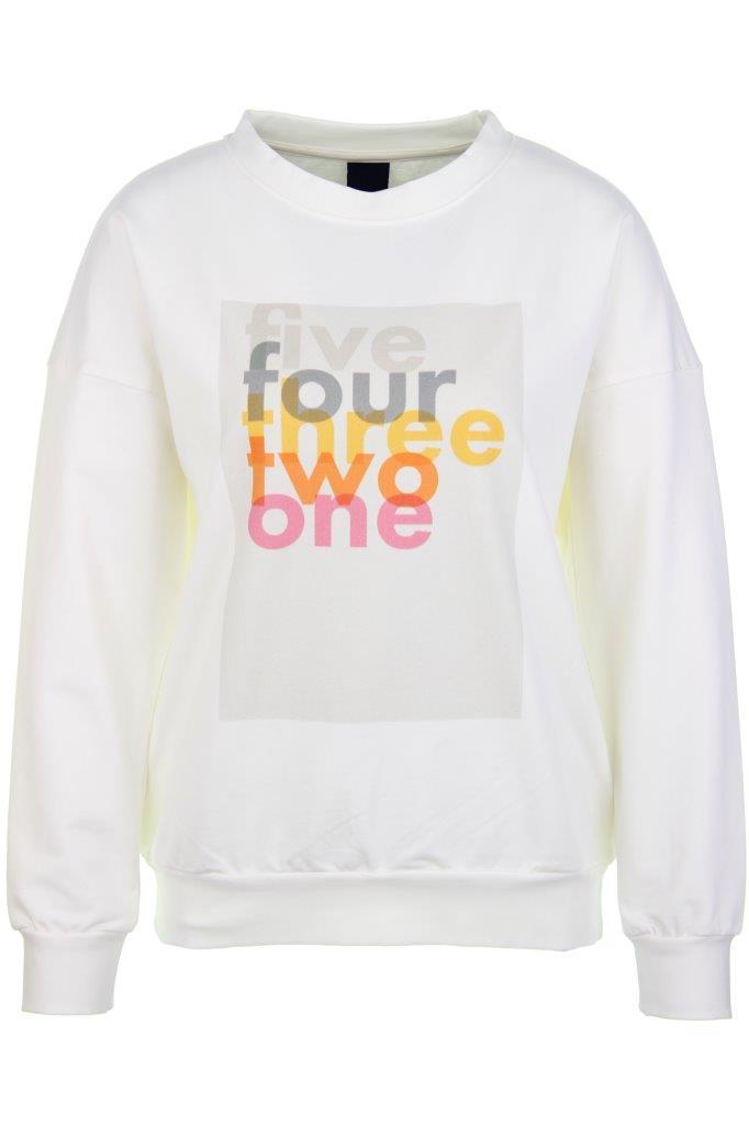 Baumwoll-Sweatshirt '54321' mit Elasthan
