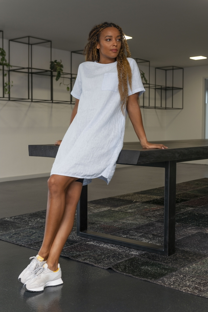 Kleid 100% supersoftes mehrfach getrommeltes Leinen