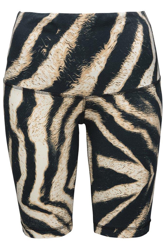 Biker Pants Zebra aus supersofter atmungsaktiver knitterarmer Kofferware