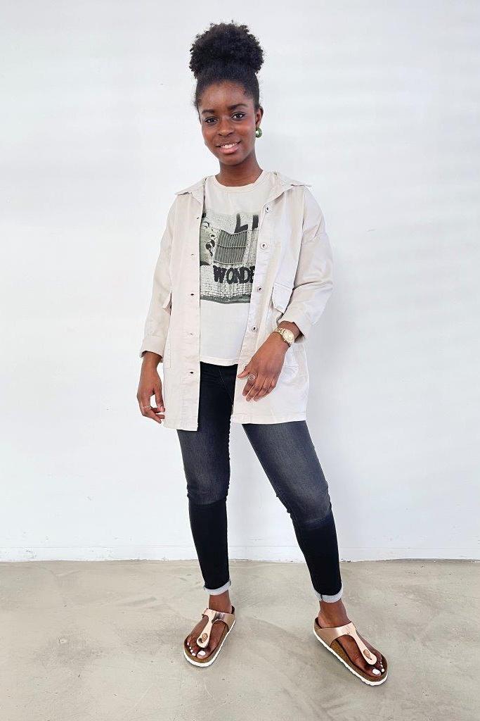 SNAKE MILANO  Overshirt Jacke aus Baumwollsweat und Canvas - VORORDER-Artikel mit Liefertermin Mitte August - Mindestmenge 3 in einer Farbe